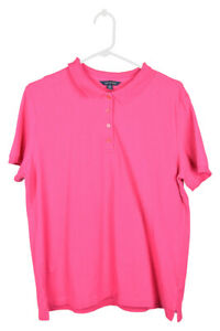 Lands' End Boys Tops Polo Shirts L Pink Wool