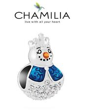 Genuine CHAMILIA 925 silver & Swarovski SNOW MAIDEN charm bead, Christmas winter
