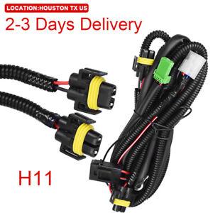 US Location Fog Light Wiring Harness Switch Kit H11 LED Light For honda nissan