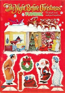 VNT 1960s NIGHT 4 CHRISTMAS PAPER DOLL HD LASR REPRODUCTION HI QAL~TOP SEL LOPr