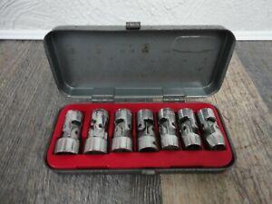 "VTG Craftsman Tools V Series 3/8"" Drive SAE Socket Set Universal Swivel Lot 6PT"