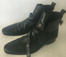 Nice Mens KENNETH COLE Black Leather Booth Shoes Size 11M C1