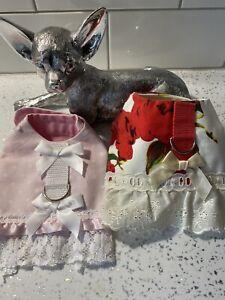 PUPPY CHIHUAHUA PET HARNESS DRESS HANDMADE X 2‼️‼️