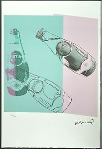 ANDY WARHOL * Perrier * signed lithograph * limited # 44/100
