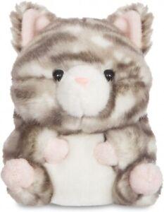 Aurora Worl Rolly Pets Grey Kitten Plush