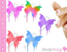 Beautiful Colorful Butterfly Mix Nail Decal Stickers BFY903