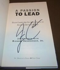 JIM CALHOUN SIGNED BOOK A PASSION TO LEAD 1ST/1ST HC/DJ UCONN HUSKIES BASKETBALL