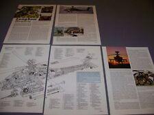 VINTAGE..AH-64D LONGBOW APACHE..HISTORY/CUTAWAY/3-VIEWS/SPECS..RARE! (62B)