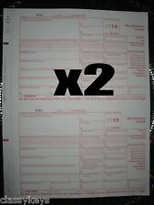 2013 IRS Tax Form 1099-MISC carbonless -- 2 sets for 4 recipients + 1 Form 1096