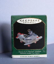 1997 Hallmark Keepsake Miniature Ornament Pursuit Airplane Kiddie Car Classics 3
