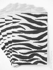 100 black and white zebra design, flat merchandise bags 4x6 inches