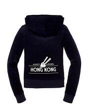 JUICY COUTURE DESTINATIONS HONG KONG REGAL NAVY Y2K VELOUR TOP HOODIE XL £120!