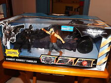 "THE DARK KNIGHT RISES, COMBAT ASSAULT TUMBLER W/ BATMAN & BANE 5"" FIG., NIB 2012"
