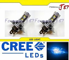 CREE LED 50W HS1 12V BLUE 10000K TWO BULB HEAD LIGHT LAMP ATV GO KART BIKE SHOW
