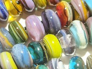 Glassbymelissa- handmade lampwork glass bead set -shrapnel spacers- 20 beads