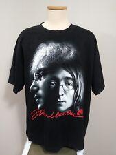 John Lennon Men's XXL Black Double Sided Graphic Rock Chang  Crew Neck T Shirt