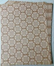 "Brown Beige Patterned Printed Card Stock, 10 Sheets, 8.5"" x 11"""