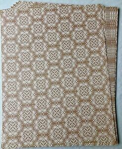 """Brown Beige Patterned Printed Card Stock, 10 Sheets, 8.5"""" x 11"""""""
