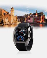 New Men's Luxury Black Stainless Steel Sport Digital LED Date Analog Wrist Watch
