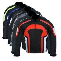 Motorbike Motorcycle Jacket Waterproof Textile Biker CE Armoured Cordura