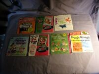 Lot of 7 Vintage Children Records 7 inch 3 Read Along Books