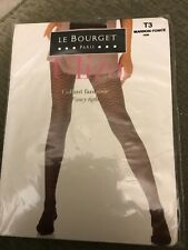 049a8a6d6d489 New LE BOURGET Uliza Collant Fantasie sz T3 Fancy Tights Pantyhose Dark  Brown