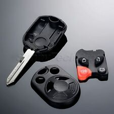 Keyless Entry Lock Remote Case Fob Combo Uncut Head Ignition For Ford Expedition