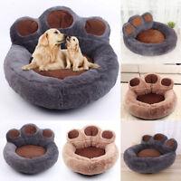 Pet Nest Bed Bear Paw Soft Washable Dog Cat Warm Basket Cushion Cosy Sofa Kennel