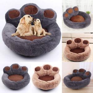 Cushion Cosy Sofa KennelPet  Nest Bed Bear Paw Soft Washable Dog Cat Warm Basket