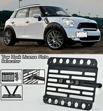 For 11-Up Mini Cooper Countryman R60 Tow Hook License Plate Bracket Relocator