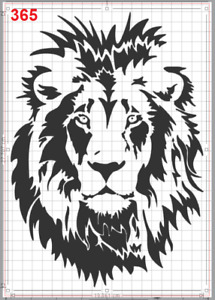 Lion Face with great Mane Stencil MYLAR A4 sheet strong reusable Craft Wall Deco