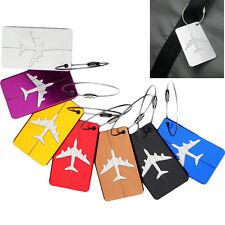 White Aluminium Travel Luggage Baggage Tag Suitcase Identity Address Name Label