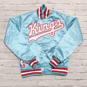 Vintage 90s Sacramento Kings Satin Jacket by Starter Made in USA Rare