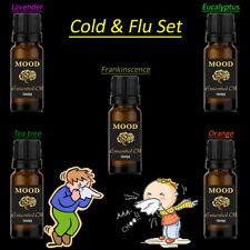 Cold and Flu Essential Oil Set Lavender Eucalyptus Tea Tree Orange Frankincense