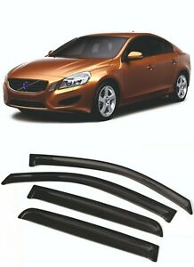 For VOLVO S60 4DR 2010-2018 Window Visors Sun Rain Guard Vent Deflectors