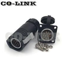 Conector 12Pin a prueba de agua, conector de alimentación circular de alto voltaje LP20-C12