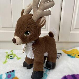 B138 Build A Bear Teddy Bear Plush Soft Toy MINI Christmas Reindeer