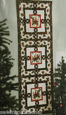 CHRISTMAS CARDINALS QUILT PATTERN RUNNER PLACE MATS BIRD HOLIDAY SEASON WINTER