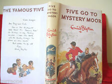 Enid Blyton Famous FIVE GO TO MYSTERY MOOR 1954 HC copy jacket 1st edition