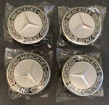 4x Mercedes-Benz Nabendeckel Nabenkappen Radnaben Abdeckkappen 75mm •NEU•