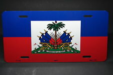 HAITI FLAG METAL NOVELTY LICENSE PLATE TAG FOR CARS DRAPEAU DE HAÏTI