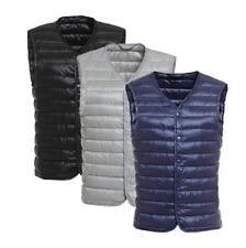 Men 's  90% Down Waistcoat  Puffer V collar Vest Jacket Portable bag Uniqlo styl