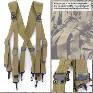 WWII M1936 Combat Suspenders: Very Good (Not Quite Mint)