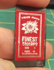 Vintage Nos Finest Sharps No. 5 Needles Made in Occupied Japan Unopened 1940's