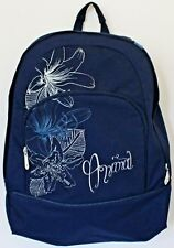 "Womens 15"" Animal Rucksack / Backpack - Navy Blue and White"