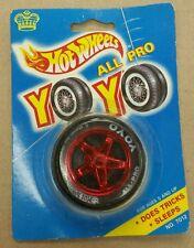 HOT WHEELS 'ALL PRO YO YO' TIRE AND RED 3 FANCY RIM VINTAGE 1990