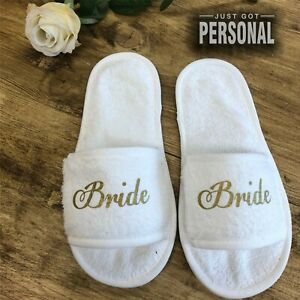 Personalised Wedding Slippers - Any Role Added Bride Bridesmaid Hen Party