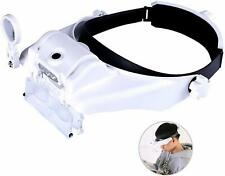 Magnifying Glasses Visor Headset with Light Headband Magnifier Loupe Hands