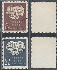 China 1957 - Used stamps. Mi nr.: 345-346. (De) Mv-2421