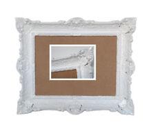 Weiß Bilderrahmen Fotorahmen Bild Foto Rahmen mit Glas Barock Antik 30*40 bilder